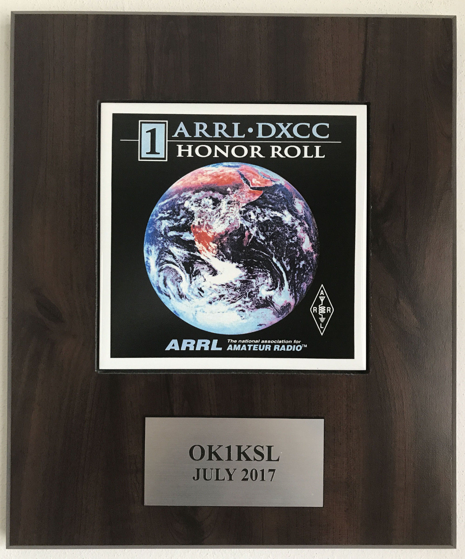 DXCC #1 Honor Roll plaque